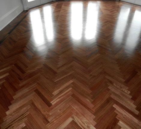 custom herringbone hardwood floor