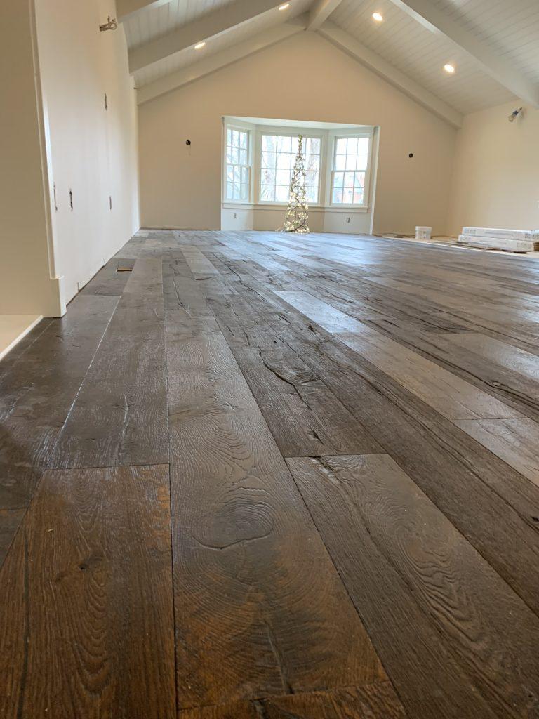hand scraped reclaimed hardwood flooring
