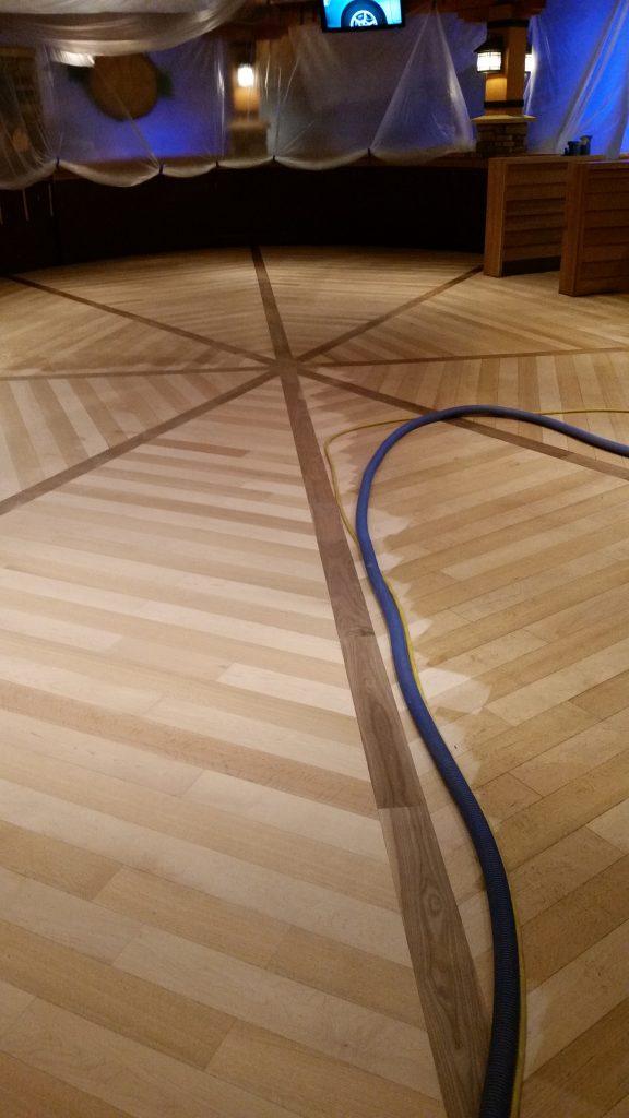 uv light cured wood floor